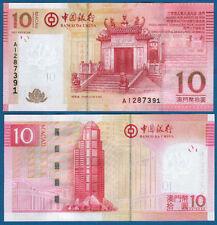 Macao BOC 10 patacas 2008 unc p.108
