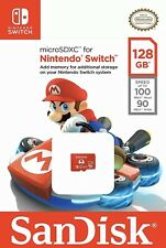 SanDisk 128GB micro SD XC (UHS-I U3-100MB/s) Memory Card For Nintendo Switch NEW