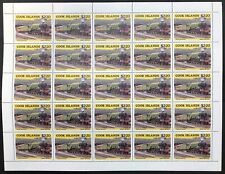 Cook Is. #864 Sheet of 25 Locomotives 1985 MNH