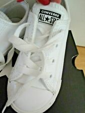 CONVERSE ALL STAR TRAINERS SIZE 8 LEATHER KIDS INFANT SHOES BOYS GIRLS
