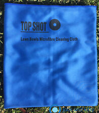 Brand New Blue Microfibre Lawn Bowls Top Shot Polish Polishing Drying Bowl Cloth
