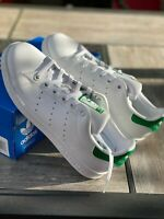 adidas M20605 Originals Big Kid's Stan Smith Sneaker White / Green Sz 5