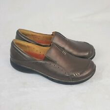 Clarks Un Structured Bronze Comfort Slip On Shoes Size 7.5W