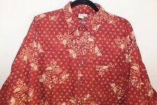 The Territory Ahead MENS Sz XL Funky Vintage BATIK Paisley Art-to-WEAR Shirt Top