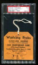 1949 AAFC Championship Game Press Pass Ticket Browns 21 49ers 7 PSA 26897545