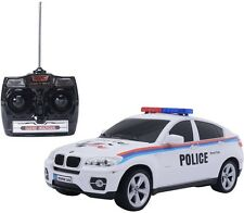 BMW X6 Licensed Electric Radio Remote Control RC Police Car w/Lights Gift -White