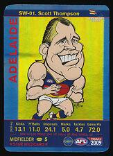 2009 Teamcoach Star Wildcard Scott Thompson Adelaide Crows Team Coach wild card