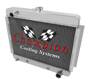 3 Row BC Champion Radiator for 1966 1967 Chevrolet Chevy II Nova V8 Conversion