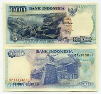 Indonesia 1992 Unc Banknote Rp 1000 Rupiah X 10 Piece Paper Money Lot