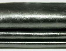 METALLIC PEWTER CRINKLED Italian CALFSKIN CALF COW Leather skin hide 7sqf 0.5mm