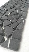 Mosaic Marble Broken Stone Border Wall Black Tiles 10x30 cm 8 mm B527, NEW