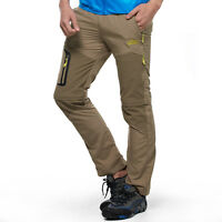 Casual Men Detachable Outdoor Anti-UV Quick Dry Pants Hiking Stretch Trousers