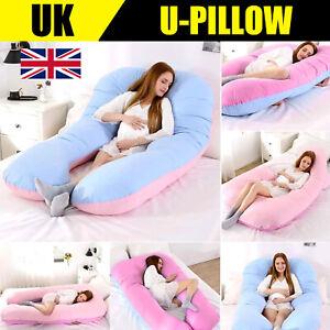 120cm Comfort U Pillow & Case - Full Total Body Pregnancy Maternity Support
