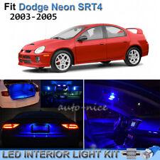 For 2000-2005 Dodge Neon SRT4 Brilliant Blue LED Interior Lights Kit 10 Pieces