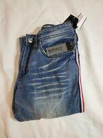 New Buffalo David Bitton Men's Slim Fit Ash-X Stretch Blue Jeans 32x32 Nwt $119