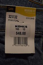 NEW w/tag Men's Lee Premium Select 32/32 Regular Straight Leg Blue Jeans PhanSY