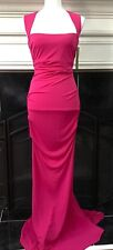 Authentic Nicole Miller Womens Open Back Sleeveless Cocktail Gown Dress Size 6