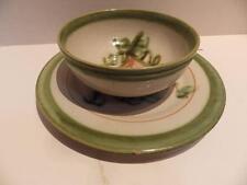 J B Taylor Louisville Pottery HARVEST Cereal Bowl & Side Plate