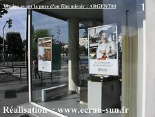fiilm adhesif miroir (pour voir sans etre vu de jour) - film en largeur de 61 cm