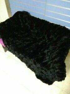 Luxury Soft Real Rabbit Rex Fur Throw Warm Sofa Bedspread Blanket 100*100cm