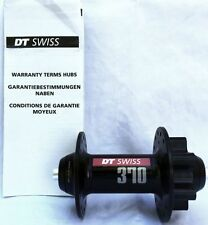 DT Swiss Front Wheel Bicycle Hub DT 370 MTB 32h/100mm/6 Bolt Black No Skewer New