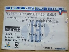 Ticket: GREAT BRITAIN v NEW ZEALAND 2nd Test Series, 16 November 2002~Huddersfie