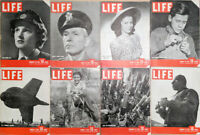 Lot of 16 1942 LIFE Mags- Ginger Rogers Shirley Temple Rockefeller WWII Stilwell