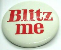 1960s Vintage Pinback Button Beer Advertising BLITZ ME Red On  White