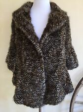 FUR GODDES Lined Cape Style Jacket Absolutely Gorgeous Very Soft Fox? Small