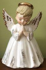 Vintage 1950s Lefton Japan Ceramic Little Boy Wing Angel Planter Figurine Figure