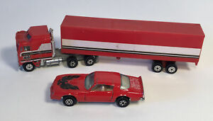 Yatming BJ and the Bear Set Kenworth Semi Tractor Trailer Truck Trans Am Car Lot