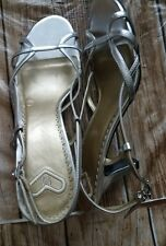 NEW MADELINE AMBER SILVER LAZY M SHOES SZ 10M
