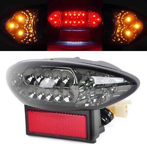 Smoke LED Tail Light Brake Turn Signal Lamp For Suzuki GSX1300R Hayabusa 99-07