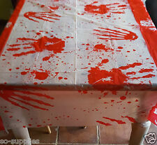 LARGE BLOOD STAINED TABLE CLOTH BLOODY COVER HALLOWEEN FANCY PARTY 137 X 274CM