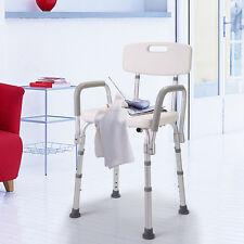 Adjustable Medical Shower Chair Bathtub Bench Bath Seat Stool With Armrest Back