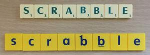 Original Scrabble Letters Tiles-Games-Crafts-Party-Alphabet-Ivory-Yellow-Cream