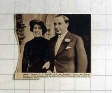 1936 Capt Tl Dugdale With His Bride Mrs Nancy Gates Wedding Windlesham