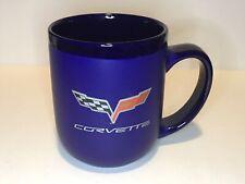 Blue Corvette Emblem Coffee Cup Mug GM Licensed. EUC