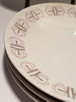"Vintage Franciscan Merry-Go-Round 4 BREAD PLATES 6"" Whitestone MCM DISHES"