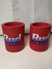 Pair Of 2 Vintage Bud King Of Beers Ppg Koolie Cups/ Can Coolers
