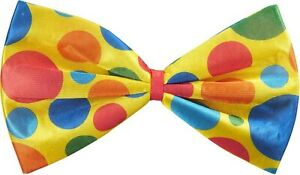 Jumbo Bowtie Clown Foam Bow Tie Polka Dot Funny Huge Large Big Costume Adult