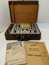 Vintage Century Fast Check Tube Tester in Wood Case with Manuals