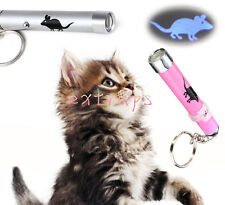 2016 Pet Play Funny Cat Toy LED Light Laser Pointer Pen w/Bright Mouse Animation