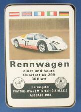 Quartett - Rennwagen -- Piatnik -- Nr. 299 -- von 1967 -- Auto Kartenspiel 9