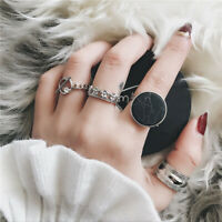 4Pcs/set Women Open djustable Knuckle Ring Geometry Rings Set Charm Jewelry Gi3C
