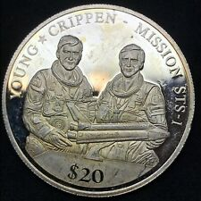 2000 LIBERIA Young CR. Mission Genuine Antique Proof Silver $20 Millennium Coin.