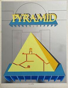 Lucio Del Pezzo serigrafia su laminato Ostermalm Suite IV 1972 65x50 numerata
