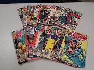Lot of 25 Conan the Barbarian comic books