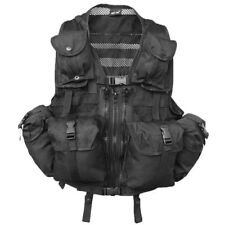 Mil-Tec US Military Army MOLLE Tactical Webbing Vest For Airsoft Paintball Black