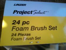 *NEW*PROJECT SELECT 24 Piece Foam Brush Set  (4 Different Sizes) Wood Handles